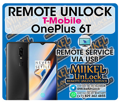 Remote Carrier Unlock OnePlus 6T A6013  T-Mobile