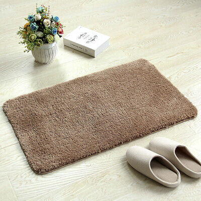 Absorbent Kitchen Bathroom Area Rug Floor Mat Fleece Bath Toilet Non Slip Carpet