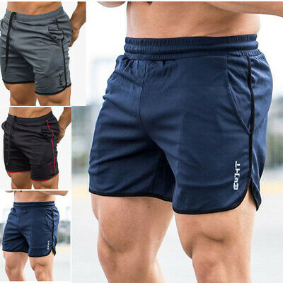 US Men GYM Shorts Training Running Sport Workout Casual Jogging Pants Trousers