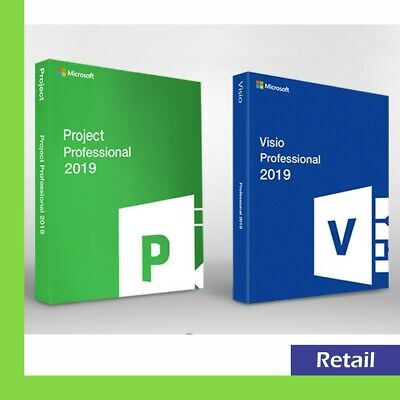 Official Microsoft Visio Pro - Project Pro 2019 5 PC key Instant Delivery
