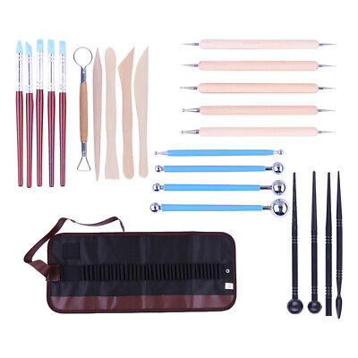 24 Pack Sculpting Tools with Storage Bag for Polymer Clay Pottery Ceramic Art
