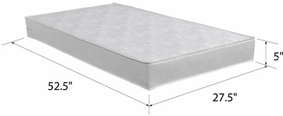 Child Crib Mattress Baby Toddler Water Resistant Bed Infant Comfort Mattresses