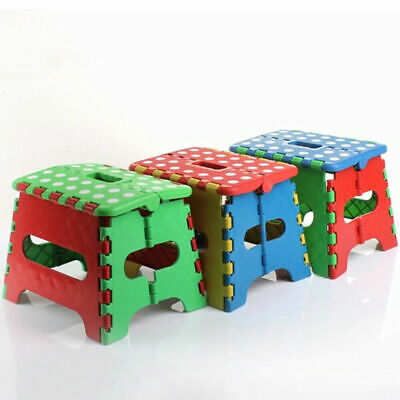 7 Collapsible Folding Plastic Kitchen Step Foot Stool w Handle -  Kids