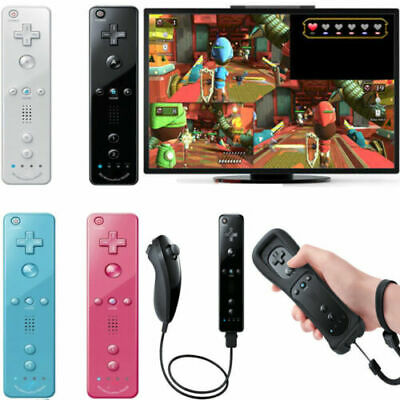 Remote and Nunchuck Controller WITH SILICONE CASE For NINTENDO WII 5 Colors USA