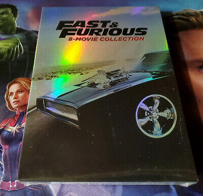 Fast and Furious 8-Movie Collection DVD 2017 9-Disc Set