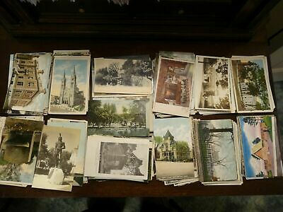 LOT OF 50 VINTAGE POSTCARDS  USED AND UNUSED  Early 1900s to the late 1950s