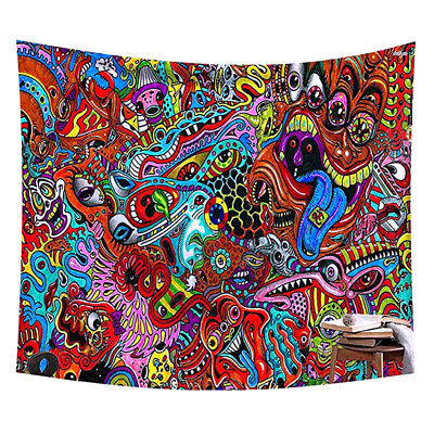 Psychedelic Tapestry Indian Wall Hanging Bohemian Hippie Tapestries Home Decor