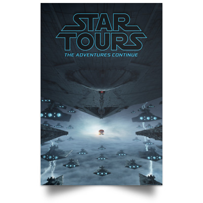 Star Tours The Adventures Movie Poster Size 16x24 24x36