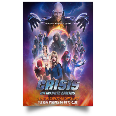 Crisis on Infinite Earths New And Best Movie Poster Size 16x24 24x36