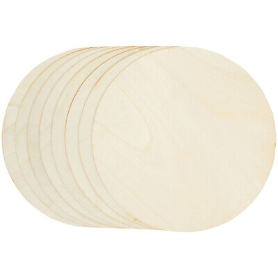 8-Pack Unfinished Wood Circle Round Wooden Cutout for DIY Craft Supplies