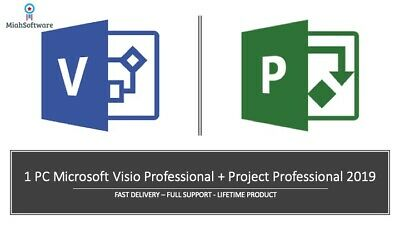 Instant Microsoft Visio Professional - Project Professional 2019 1 PC key