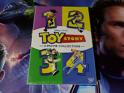 Toy Story 1-4 Box Set Collection DVD Brand New Free Shipping