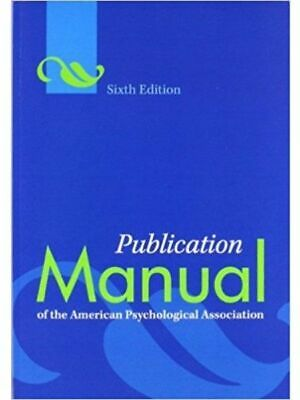 Publication Manual of the American Psychological Association 6th Edition DIGITAL