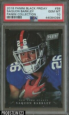 2018 Panini Black Friday Saquon Barkley Giants RC Rookie 100199 PSA 10