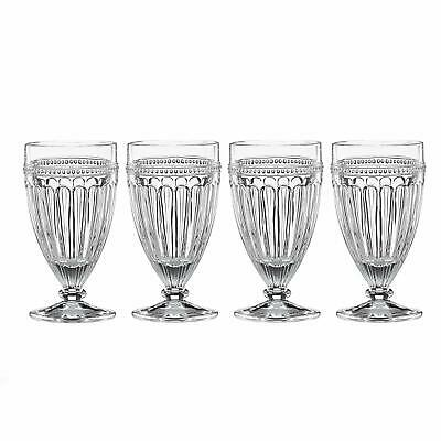 LENOX French Perle 4-piece Ice Tea Beverage Footed Glass Set NEW IN BOX