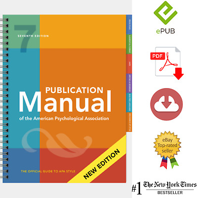 Publication Manual of the American Psychological Association Seventh Edition