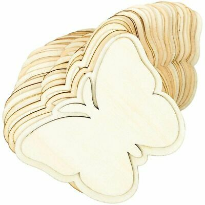 24x Unfinished Wood Butterfly Cutouts Wooden Pieces for Crafts 3-7 x 2-7 inches