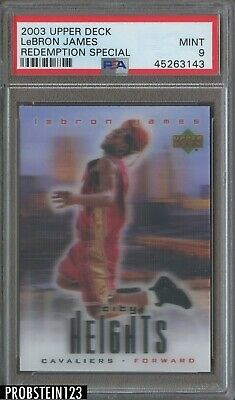 2003-04 Upper Deck Redemption Special LeBron James Cavaliers RC Rookie PSA 9