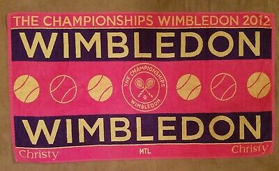 Authentic 2012 Wimbledon Championships Tennis Beach Towel-Used