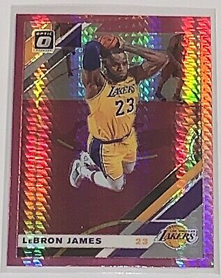 2019-20 Panini Donruss Optic Lebron James Hyper Pink Prizm SP LA Lakers