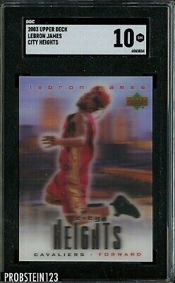 2003-04 Upper Deck City Heights LeBron James Cavaliers RC Rookie SGC 10