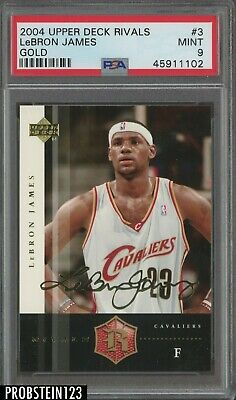 2004 Upper Deck Rivals Gold LeBron James Cleveland Cavaliers PSA 9 MINT