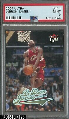2004-05 Fleer Ultra LeBron James Cleveland Cavaliers PSA 9 MINT
