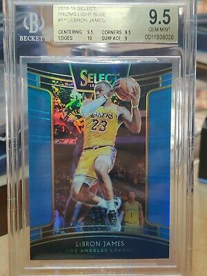 2018-19 Select Light Blue LeBron James Los Angeles Lakers 299 BGS 9-5