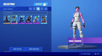 Pink ghoul trooper and renegade raider Fortnite account READ DESCRIPTION