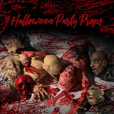 Halloween Props Party Haunted House Skeleton Skull Ghost Decor Body Parts Zombie