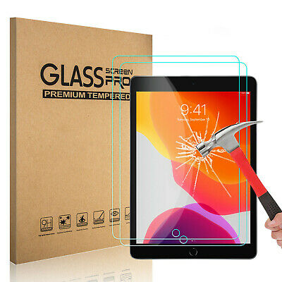 2-Pack Tempered GLASS Screen Protector for Apple iPad 7th Generation 2019 10-2