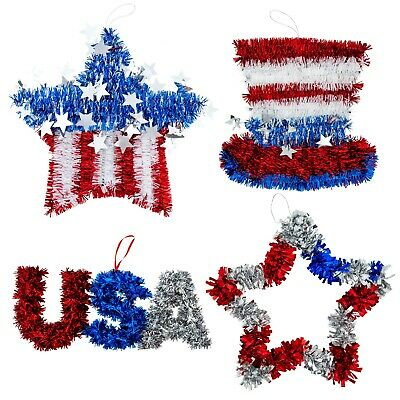 Fourth of July Decorations for Home 4pk Memorial Day Patriotic 4th of July