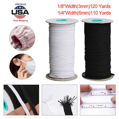 100 YARD Braided Elastic Band 14 inch Durable Flexible and Soft - US Stock