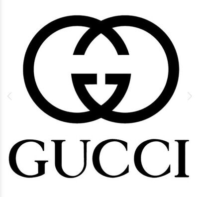 GUCCI Logo 4 Pack of Stickers 4x4 Inches Sticker Decal ANY COLOR