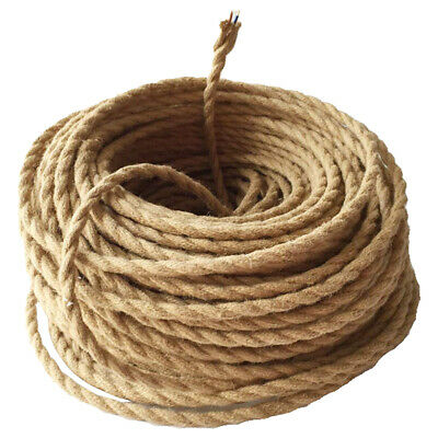 Vintage Braided Fabric Linen Cable Lighting Flex Cord Rope Wire DIY Pendant Lamp