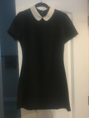 Topshop dress with white contrast collar ASO Kate Middleton- Size 8-