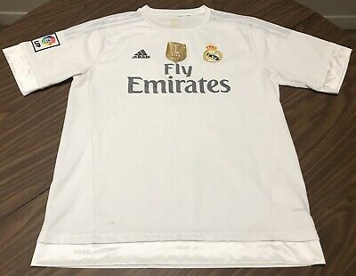 Adidas Real Madrid C-F- Fly Emirates 7 FIFA 2014 Jersey Adult Size Large