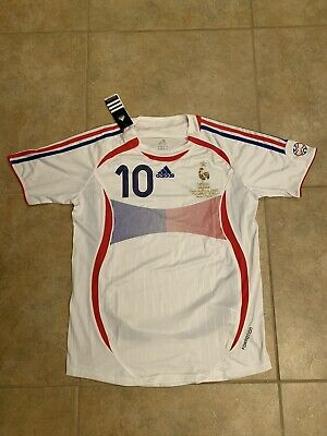 FRANCE ZIDANE 2006 WORLD CUP FINAL RETRO JERSEY Size Large