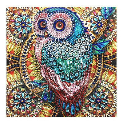 DIY 5D Owl Full Drill Diamond Painting Cross Stitch Embroidery Home Wall Decor
