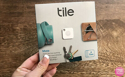Tile  Bluetooth Tracker   Tile Mate - 4 Pack  with replaceable battery
