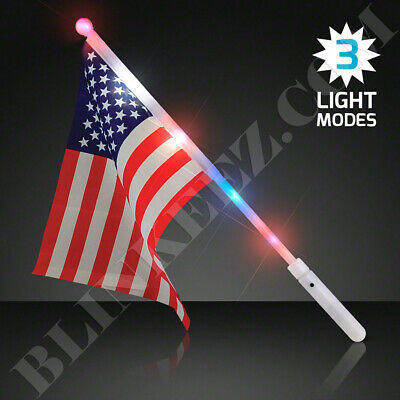LED LIGHT UP USA FLAGS 4TH OF JULY PATRIOTIC SUPER FUN