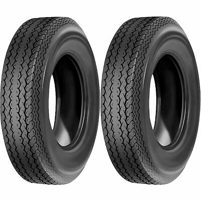 Deestone D901 Trailer Tire LRC 6Ply 4-80-12 Pack of 2