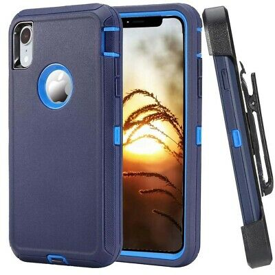 For Apple iPhone XR XS MAX Case Rugged Hard Cover wClip Fits Otterbox Defender