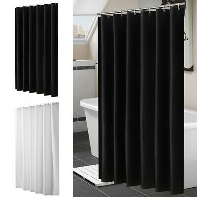 180 x 180cm Waterproof Bathroom Shower Curtain Mold Resistant With 12 Hook Ring