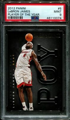 2012 PANINI PLAYER OF THE YEAR 5 LeBRON JAMES POP 4 NO 10s PSA 9 K2902304-074