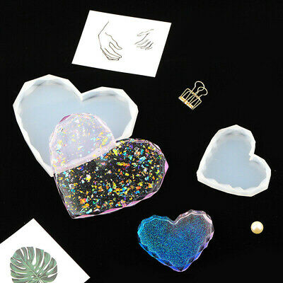 Heart DIY Coaster Resin Casting Epoxy Mold Silicone Jewelry Making Mould Craft