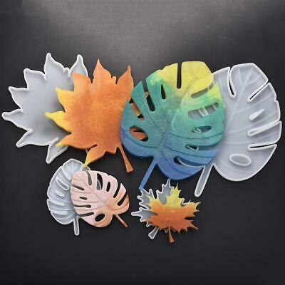 Resin Leaves Silicone Mould Coaster DIY Maple Leaf Cutleaf Epoxy Casting Molds
