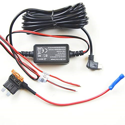Hardwire Installation Kit - Fuse Tap for Dash CamMicro USB Port 10ft