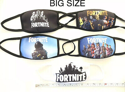 Fortnite Big Size Adult Face Mask Cover Washable Reusable Ship From CA USA