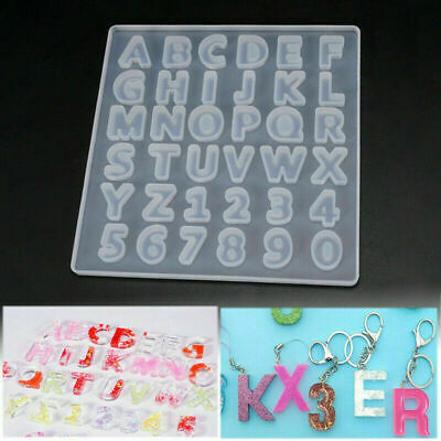 Alphabet Letter Number Silicone Mold Jewelry Resin Casting Mould DIY Crafts US